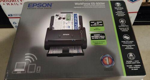 New Epson WorkForce ES-500W Wireless Color Duplex Document S