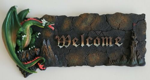 Gothic Dragon Welcome Sign