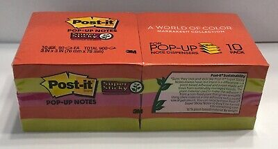 Post-it Super Sticky Pop Up Notes 3 X 3 90 Sheets Marrakesh 10 Pads