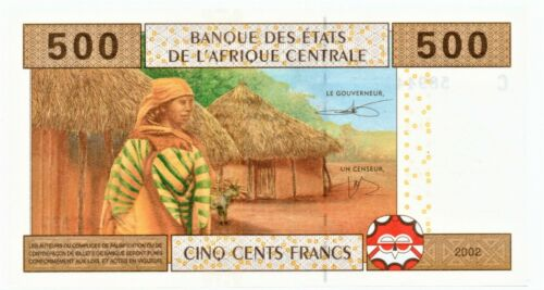 Chad 2002 Banknote 500 Francs as pictured New Condition