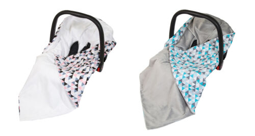Baby Wrap For Car Seat / Car Seat Blanket / Travel Wrap With Little Traingles