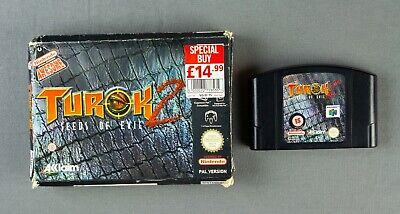 TUROK 2 SEEDS OF EVIL FOR N64 NINTENDO 64 - BOXED