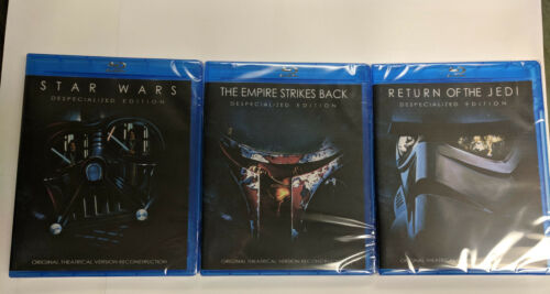 Star Wars Original Theatrical Trilogy Despecialized 3 Blu-Ray SEALED BRAND NEW