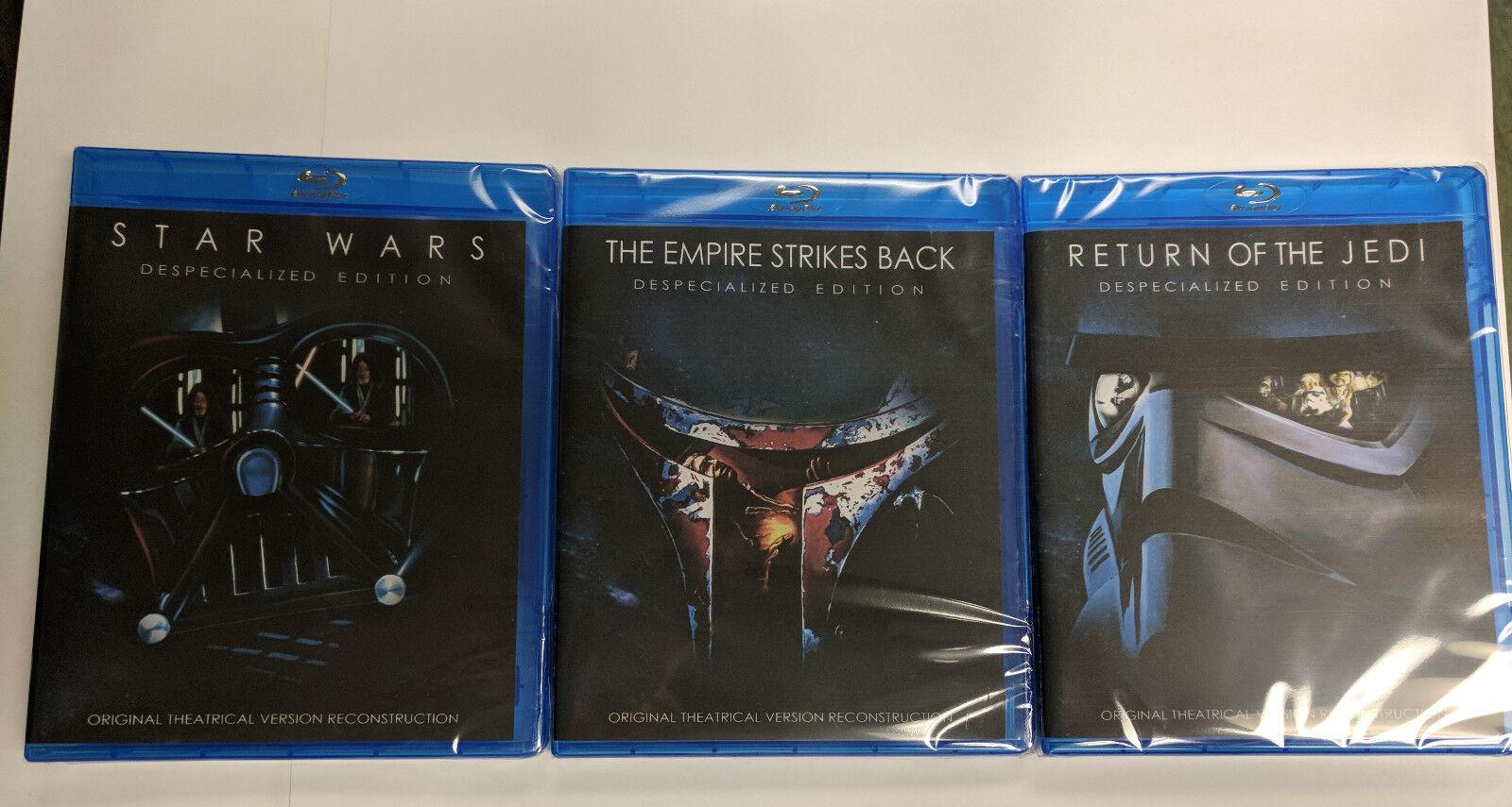 Soltekonline Star Wars Original Trilogy Despecialized Edition 3 Blu Ray Set Sealed Brand New