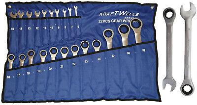 Ratschenschlüssel Ring Maul Ratsche Schlüssel Satz 6-32mm 22 tlg Werkzeug Set  (Werkzeug-set Ratsche)