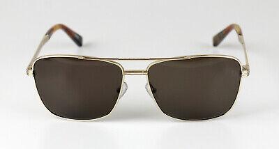 Ermenegildo Zegna Herren Sonnenbrille EZ0031 Metall Gold Glas Braun