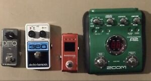 Guitar pedals-loopers, acoustic effects processor