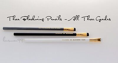 Palomino Blackwing Three Piece Pencil Set - All Three Grades - USA - Free Ship