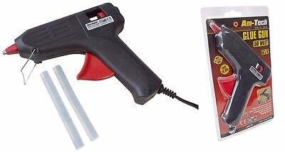 Am-Tech 50 Watt Glue Gun Electric Adhesive Crafts DIY Hot Melt with 2 Glue Stick Adhesive Tech Glue Stick