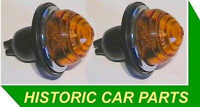 2 Amber INDICATOR LIGHTS for MORRIS MINI MINOR 848cc 1959 74 replace Lucas L594