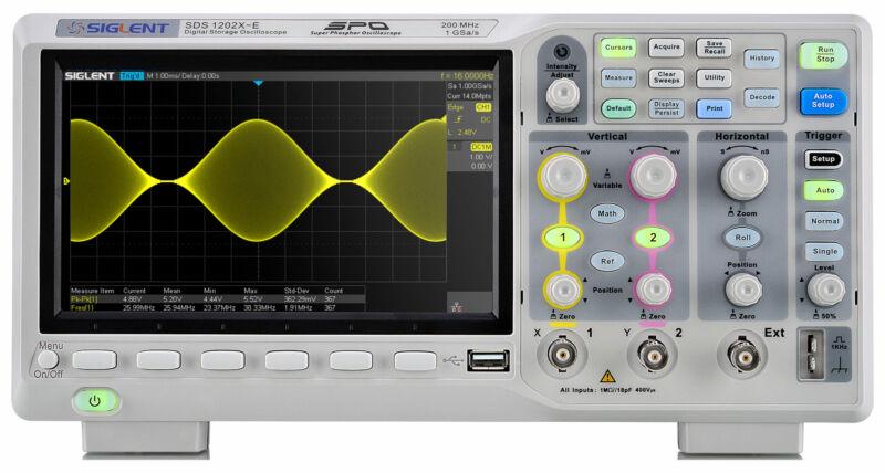 Siglent SDS1202X-E - 200 MHz / 2 Channel Digital Oscilloscope