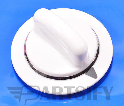 NEW WE1M856 CLOTHES DRYER WHITE TIMER KNOB FITS  GE GENERAL