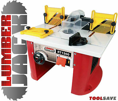 Lumberjack RT1500 Bench Router Table with Integrated variable speed motor 240V