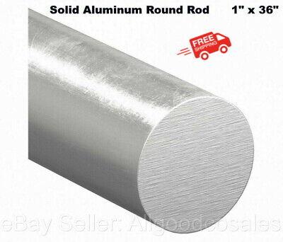 Solid Aluminum Round Rod 1 X 36 Bar Stock Alloy 6061 Unpolished Finish