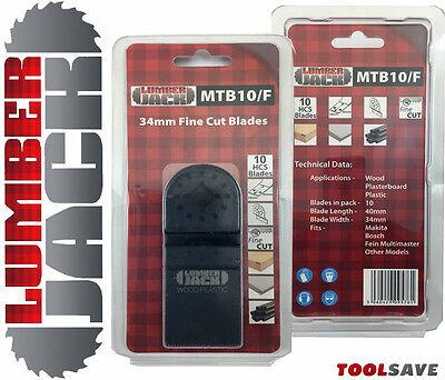 10 Trade Blades Fine 34mm Fein Multimaster Bosch Makita Oscillating Multitool