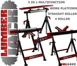 Lumberjack Multifunction 3 in 1 Workstand Roller V & Work Platform Horse Stand