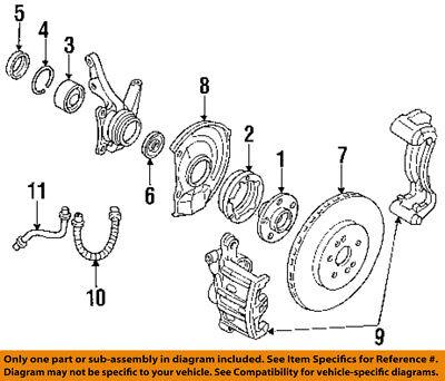 Dodge CHRYSLER OEM 91-96 Stealth Brake-Front-Bearing Snap Ring MB633435