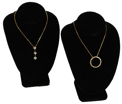 2 Black Velvet Necklace Jewelry Display Busts 6