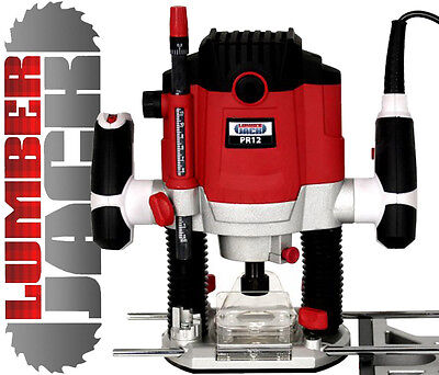 """New Heavy Duty 1800w 1/2"""" Electric Variable Speed Plunge Router 240v with Collet"""