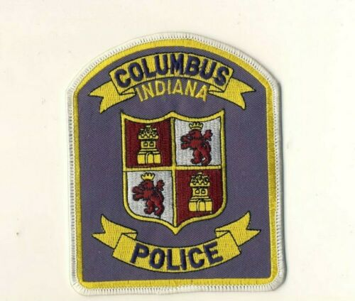"""Columbus IN Indiana Police 5"""" Patch"""