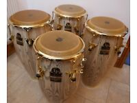 LP Galaxy Giovanni series congas and Protection Racket Cases - Immaculate condition