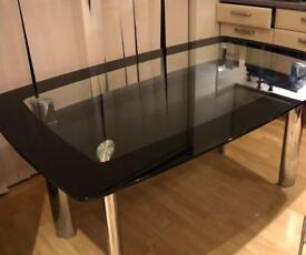 Glass dining table + coffee table & 2 small tables