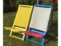Adult folding beach/camping chairs