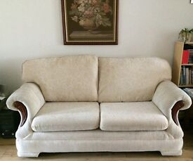 Sofa and armchair in excellent condition with removable covers