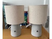 Concrete base switch lamps