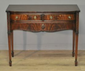 Attractive Small Vintage Bow Front Mahogany Regency Style Sideboard Cabinet