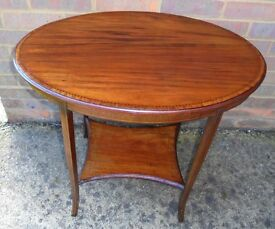 Edwardian mahogany oval side/occasional table c1901-1910