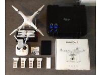 DJI Phantom 3 Advanced drone bundle with hard case and 4 batteries