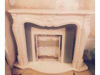 Louis Style Fire surround, backplate & hearth