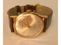 Vintage 9kt solid gold Walker mens Swiss made watch