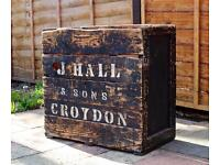 Vintage Rustic Shabby Chic Crate Storage Box