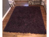 Large Next Purple Glitter Rug