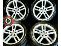 "18"" Genuine Audi S-Line alloys, excellent condition, 4 Michelin tyres."
