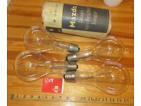 Vintage 300W light bulbs, unused and tested.