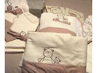 Mamas & Papas Bedtime Hugs Nursery Bundle (bedding, curtains, sleep bags etc)