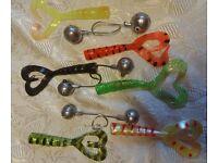 Boat Fishing Sinker,Ripper,Jig Heads + 6 Twin tails Deal