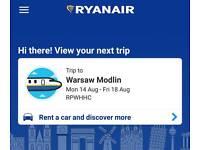 2x Return Flights from Glasgow Int. to Warsaw Modlin Airport