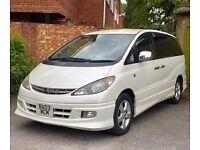 Toyota Estima Previa 8 Seater Areas Top Model Leathers Metalic Pearl White Alloys Many Extras