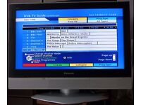 Panasonic 32 inch LCD Flat Screen HDMI Ready TV with External HD Freeview Unit