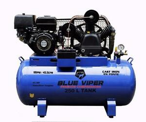 New Blue Viper 66 Gallon Truck Mounted 15 HP ELECTRIC START Air COMPRESSOR Portable Triple Head Cast Iron