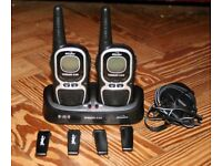 Two Re-Chargable Walkie Talkies with extra belt clips