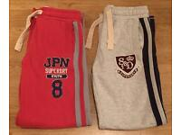 2 brand new, mint condition men's medium Superdry joggers
