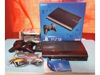 EXCELLENT MINT CONDITION PS3 SUPER SLIM 500GB BUNDLE