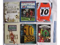 6 BOOKS RETRO Guinness book of records Winners & champs Top 10 Sport Football Millennium Records