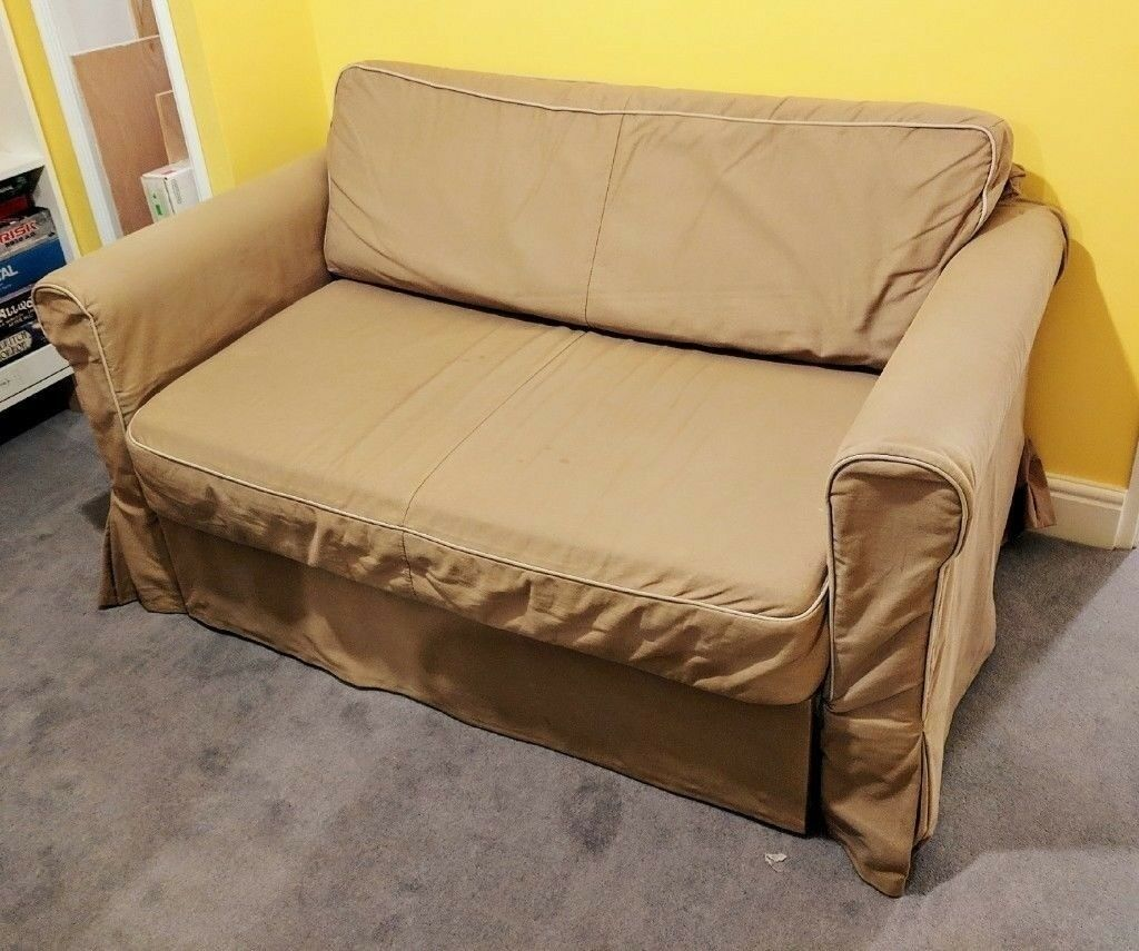 Ikea Beige Hagalund Sofa Bed With Storage Machine Washable Cover Good Condition Delivery Possible