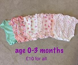 Baby vests 0-3m